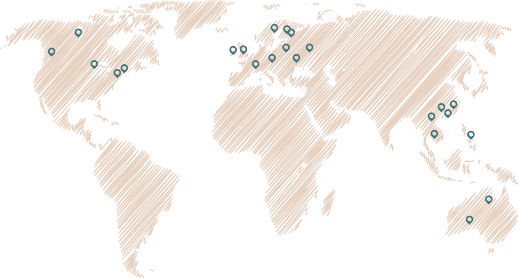 Fiskars group locations on the map